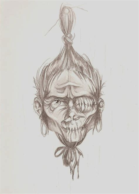 shrunken heads tattoo shrunken by anniegiturguns on deviantart