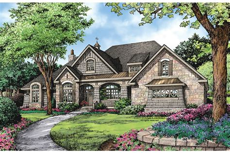 house plans european one story luxury hwbdo76090 european from
