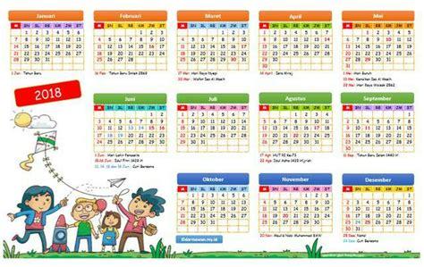 Kalender Tahun 2018 Pdf Kalender 2018 Versi Excel Dan Pdf Darmawan