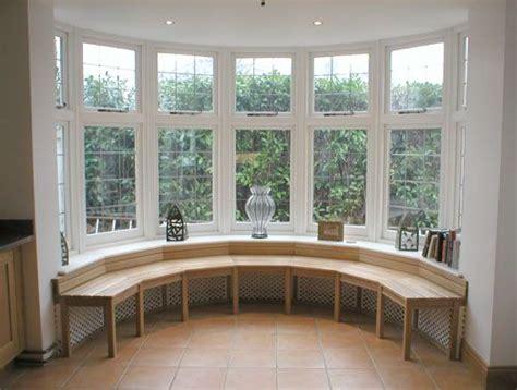 oak window seat  angle   bay window