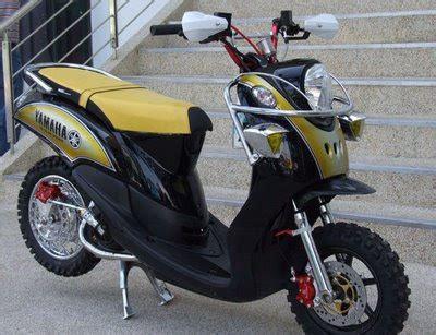 Pelindung Shock Depan Trail modifikasi motor matic yamaha fino road trail