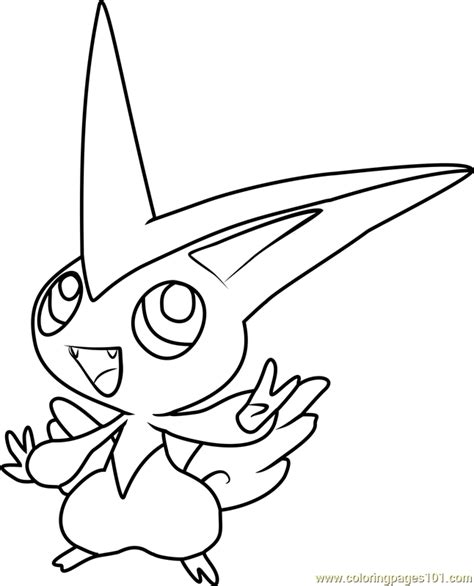 pokemon coloring pages victini victini pokemon coloring page free pok 233 mon coloring