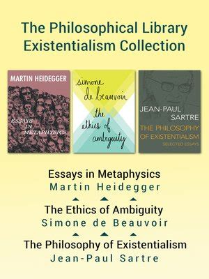 Jean Paul Sartre Existentialism Essay Summary by The Philosophical Library Existentialism Collection By Martin Heidegger 183 Overdrive Rakuten