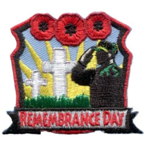 Patch Poppy Football Remember remembrance day iron on embroidered patch by e patches crests