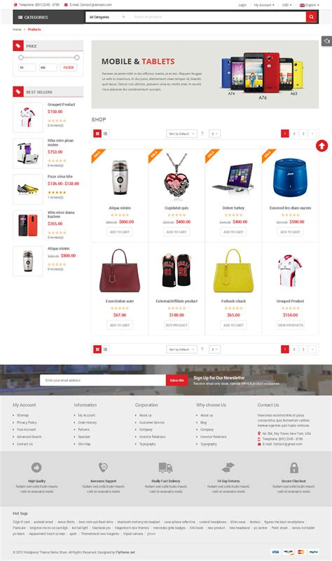product listing layout style zen cart shoppystore multi purpose responsive woocommerce theme