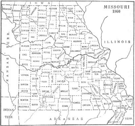 carroll county, missouri, genweb project home page maps