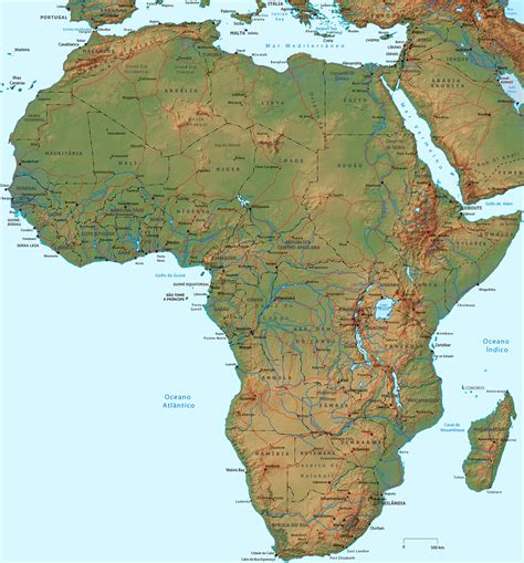 africa map hd wallpaper mapa f 237 sico da 193 frica vegeta 231 227 o relevo e pa 237 ses map
