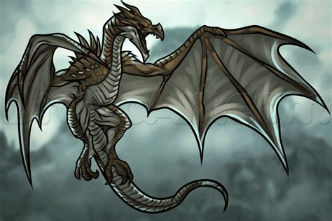 Drawing Dragons by How To Draw A From Skyrim Step By Step