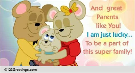 Great Parents Like You  Free Parents' Day eCards