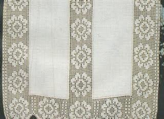 tende di lino con inserti all uncinetto tenda di lino con inserti a filet paperblog