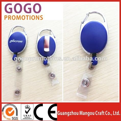 Id Card Jepit Yoyo id badges card holder office retractable reel key clip holders retractable badge reels with clip