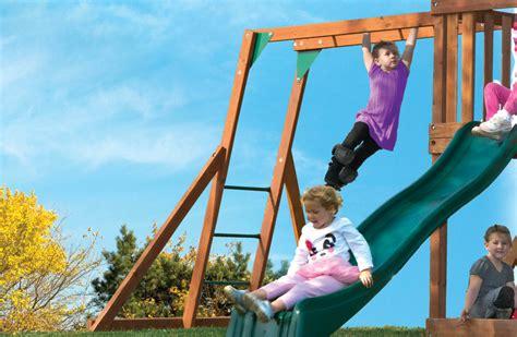 monkey bar swing high flyer playset for children with monkey bars sandbox