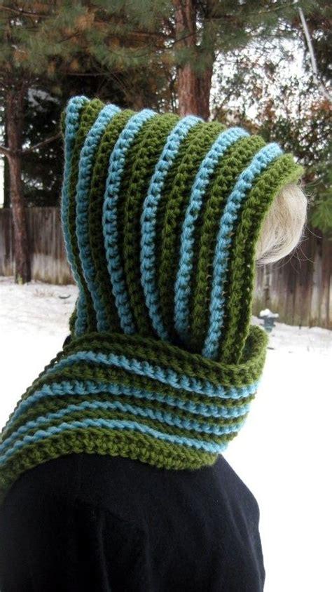 free crochet pattern zipline scarf striped hooded scarf 231