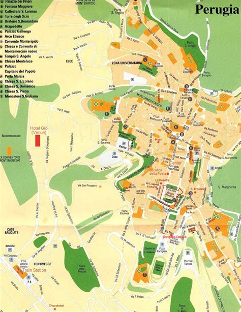 map of perugia italy perugia tourist map perugia italy mappery