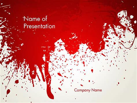 Murder Presentation Template For Powerpoint And Keynote Ppt Star Murder Powerpoint Template