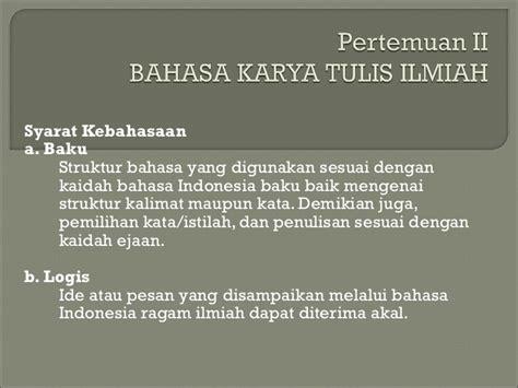 Bahasa Indonesia Penulisan Dan Penyajian Karya Ilmiah Sri Hapsari W tata tulis karya ilmiah