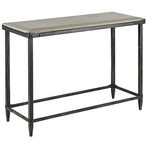 Concrete Console Table Decatur Industrial Loft Concrete Antique Steel Console Table Kathy Kuo Home