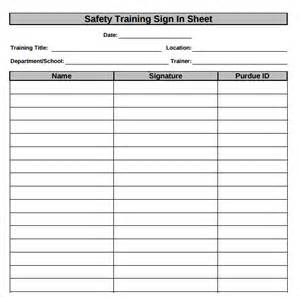 Safety Sign Templates by Sign In Sheet Template 21 Free Documents In