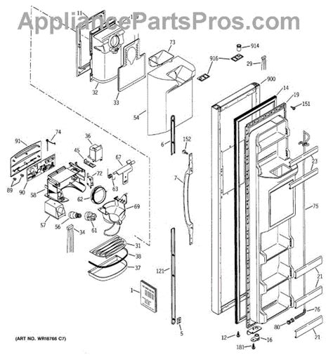 ge appliances parts diagrams ge wr49x10233 torsion appliancepartspros