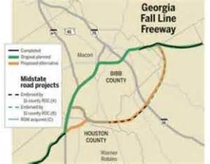 fall line map macon mayor proposes changes to fall line freeway
