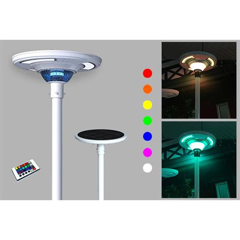 solar powered outdoor lights eleding 360 194 176 white ufo round solar powered outdoor rgb