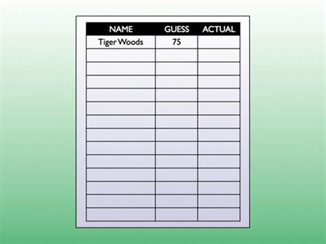 Guessing Template How Old Is Tiger Woods Dy Dan