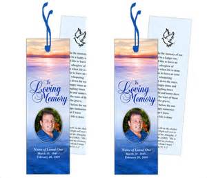 Funeral Bookmarks Template Free by Memorial Bookmarks Templates Funeral Prayer Cards Large