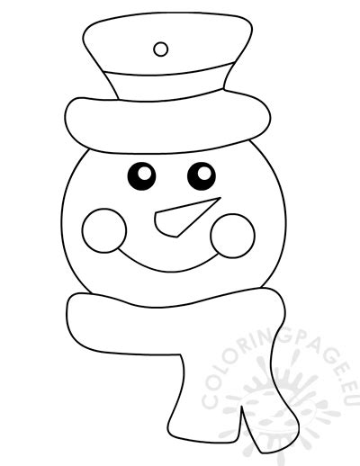 printable snowman ornament coloring page