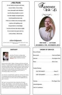 order of service funeral template 1000 images about printable funeral program templates on