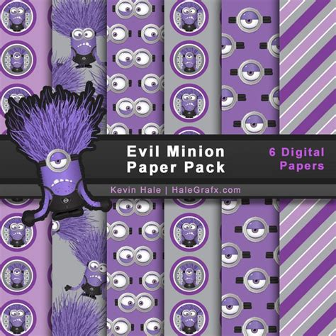 Kertas Scrapbook Purple Minion Design 96 best images about minions on