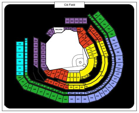 citi field seating map citi field tickets citi field flushing ny tickets citi field seating chart