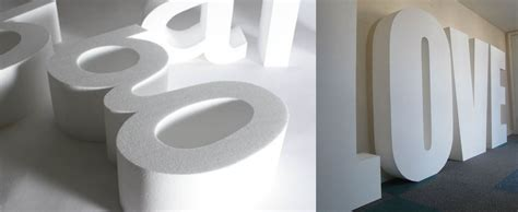 lettere di polistirolo lettere in polistirolo loghi e scritte in 3d da vostro