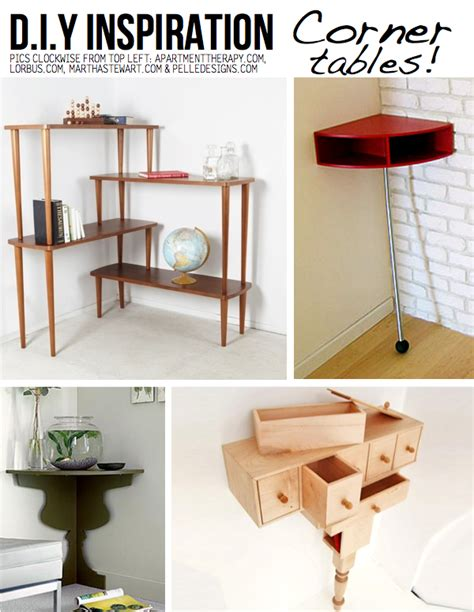 corner table ideas clever corner diy solutions