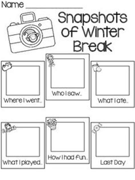 What I Did On My Winter Vacationday One Decembe Snarkspot by 1000 Images About Winter Worksheets On