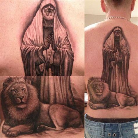 lions den tattoo daniel and the lions den by steve wimmer tattoonow