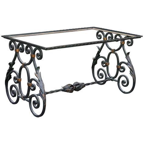 wrought iron table base for sale at 1stdibs