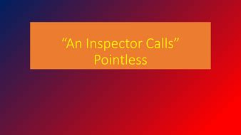 an inspector calls themes quiz an inspector calls pointless revision quiz by londinius
