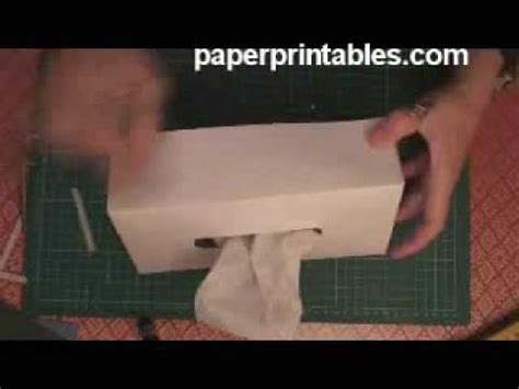 How To Fold Tissue Paper In A Box - how to make a decorative paper tissue box cover tutorial