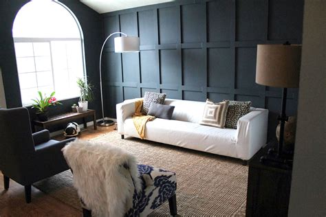 living room walls panel perfect diy living room before after