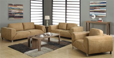 suede living room furniture tan chocolate brown contrast micro suede living room set