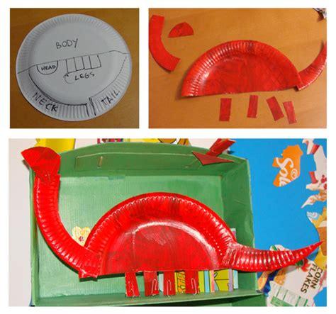Paper Dinosaur Craft - d for dinosaur crafts for