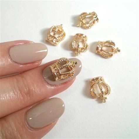 Nail Charms by 2 Pcs Gold Crown 3d Metallic Nail Charm Jewelry