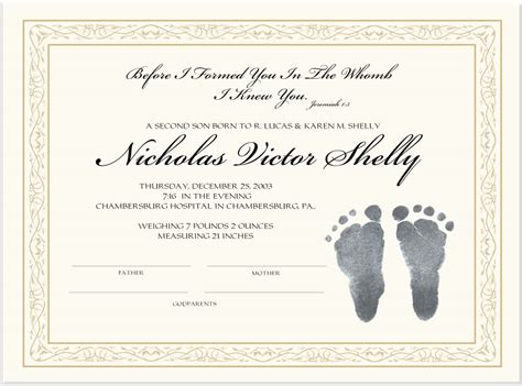 Birth Certificate Records Custom Birth Certificates Personalized Birth Certificates Confirmation Certificates