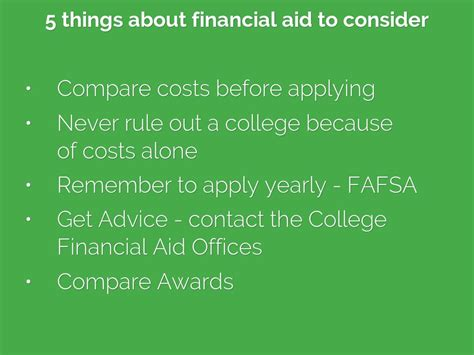 Award Letter Comparison Tool Copy Of Financial Aid 101 By Sneuenschwan