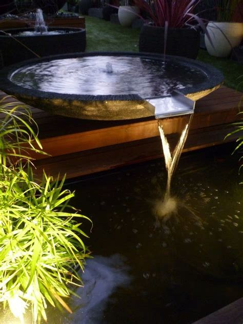 bowl water feature spilling   koi pond www