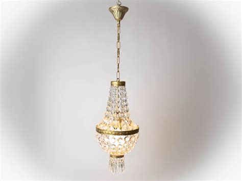 1960s French Vintage Crystal Chandelier Pendant Light Crystals For Light Fixtures
