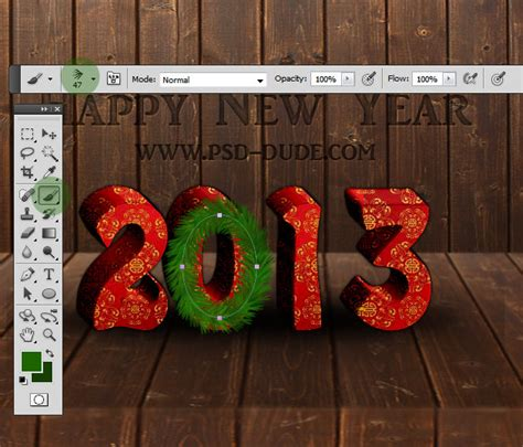 tutorial photoshop new happy new year text effect photoshop tutorial photoshop