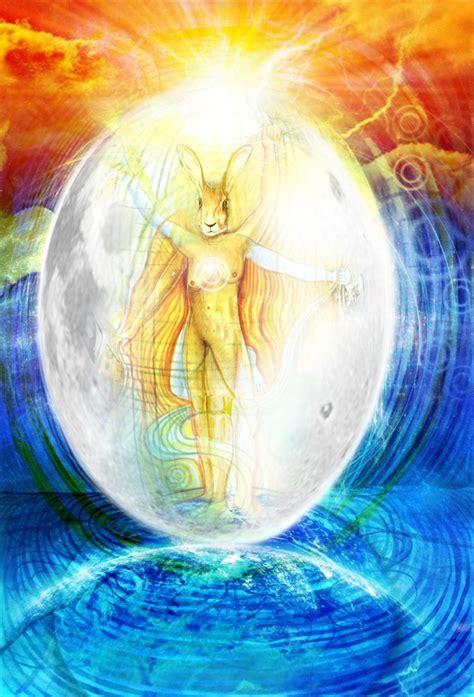 goddess easter the hare the moon egg the goddess of easter neil hague