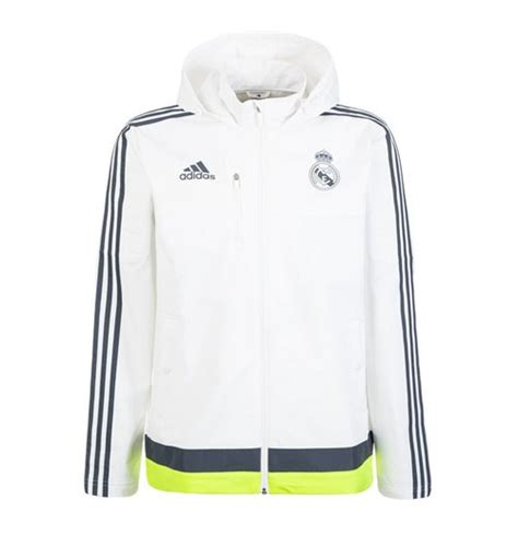 Parka Bola Real Madrid Army 2015 2016 real madrid adidas travel jacket white for only 163 39 75 at merchandisingplaza uk