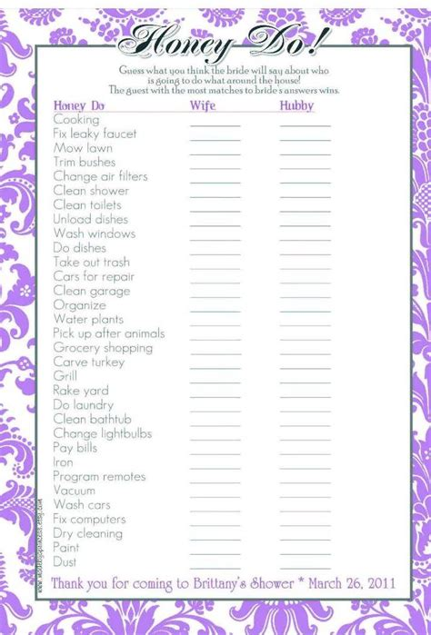 What To Do At Bridal Shower by Bridal Shower To Do List Template 99 Wedding Ideas